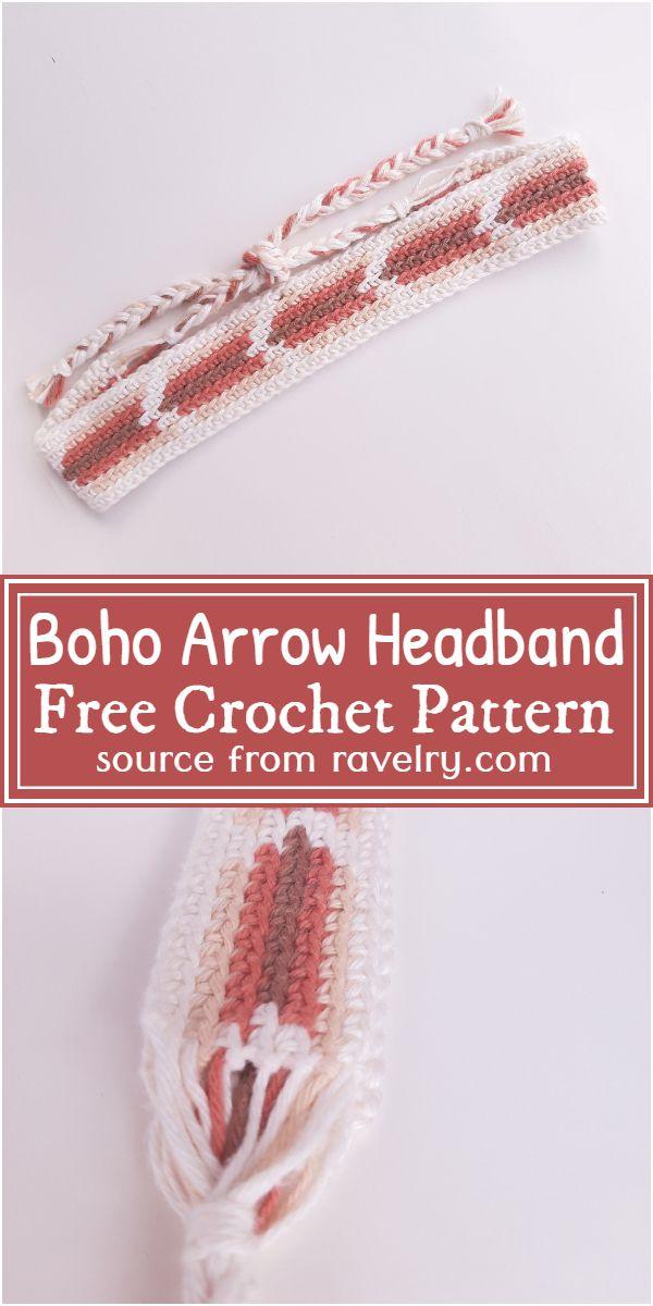 Crochet Boho Arrow Headband Pattern