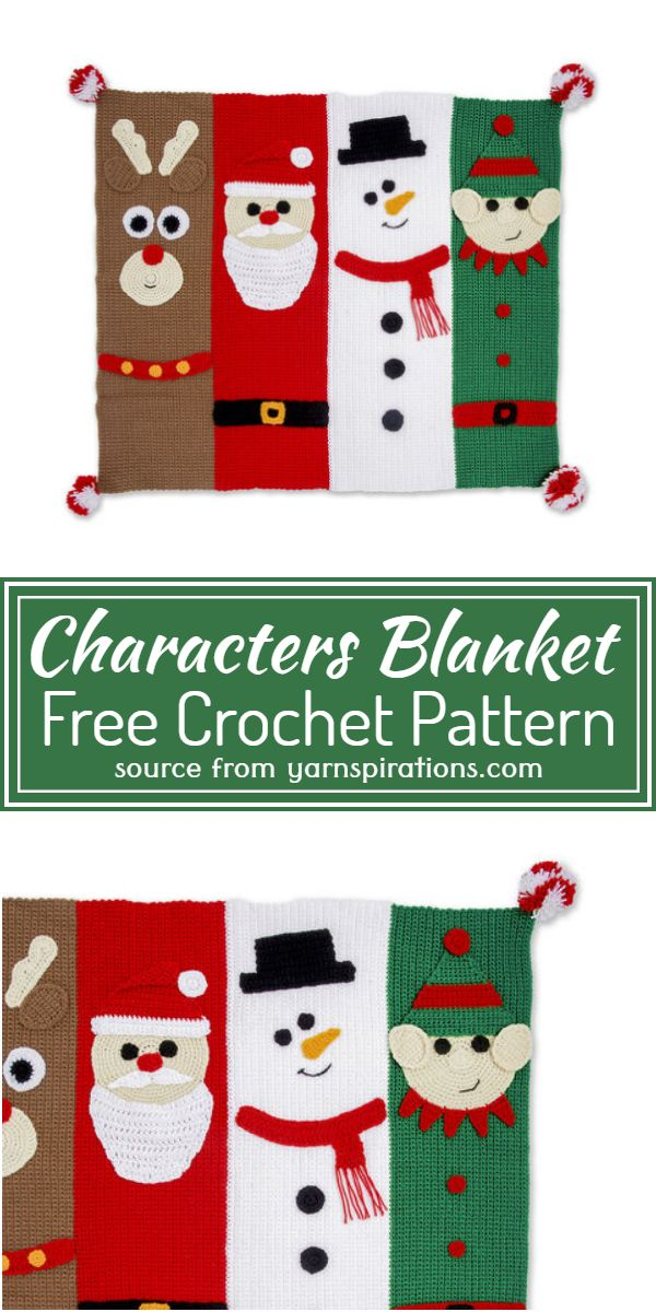 Crochet Characters Blanket Free Pattern