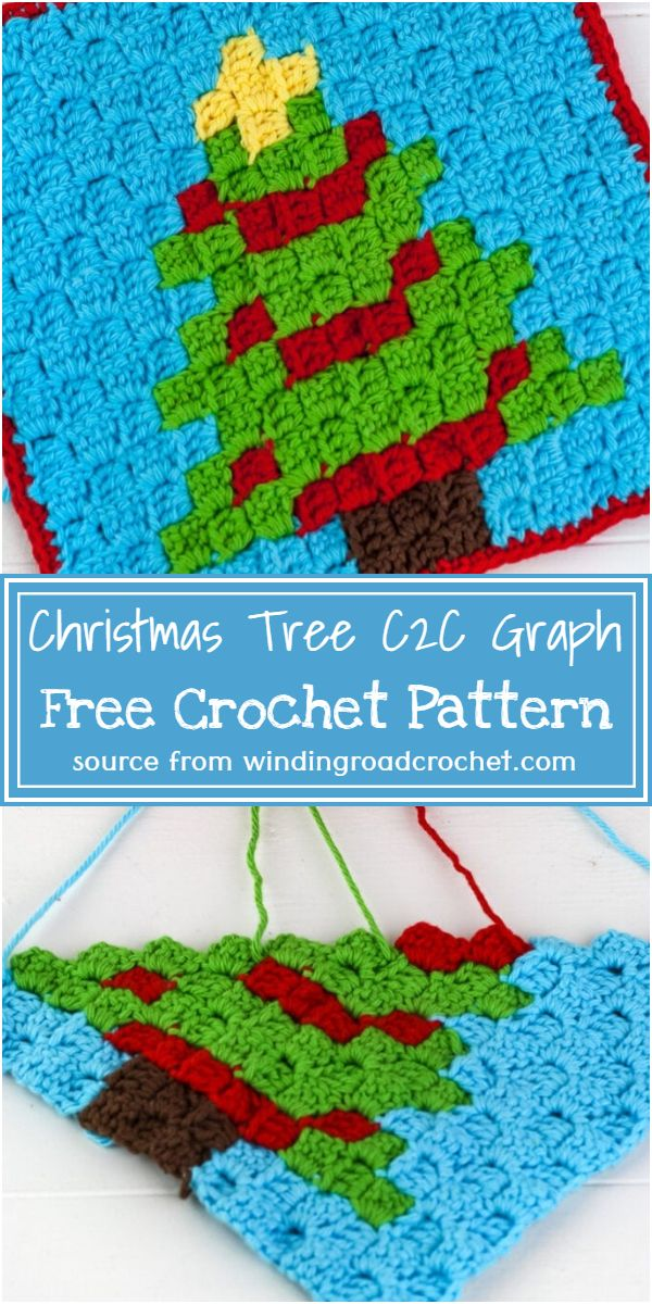 Crochet Christmas Tree C2C Graph Free Pattern