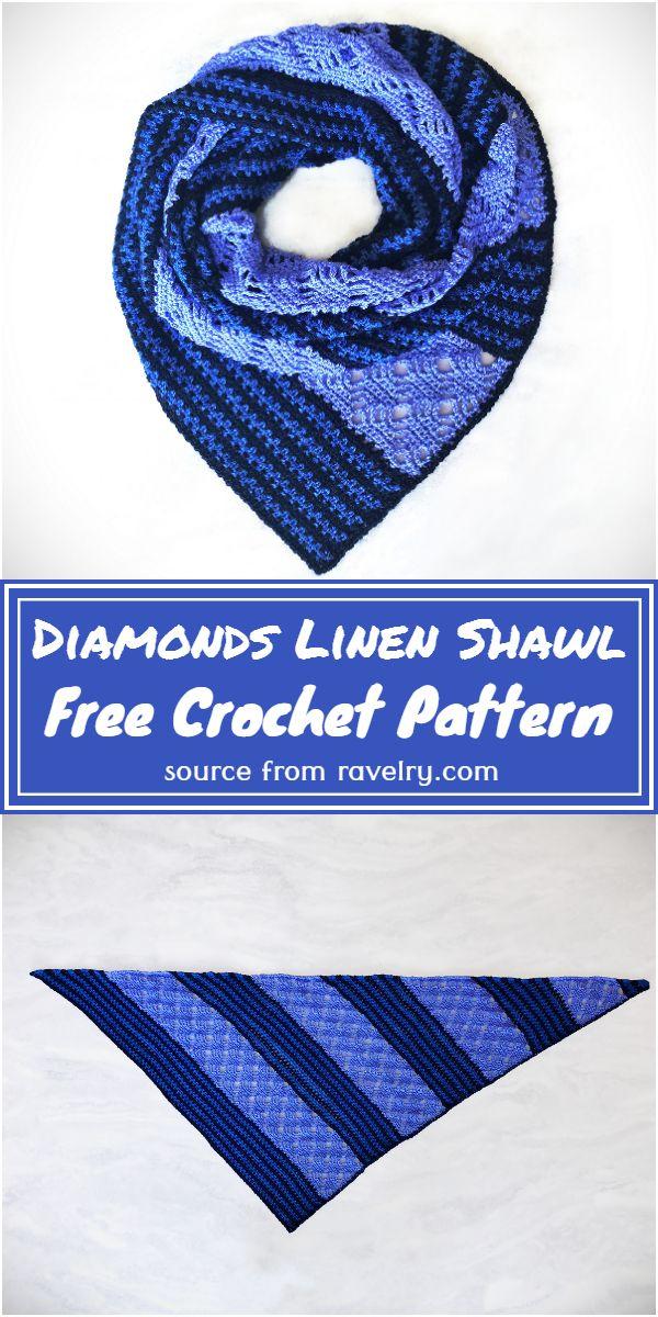 Diamonds Shawl Free Pattern