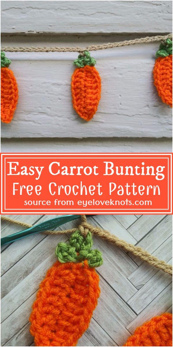 Crochet Easy Carrot Bunting Free Pattern