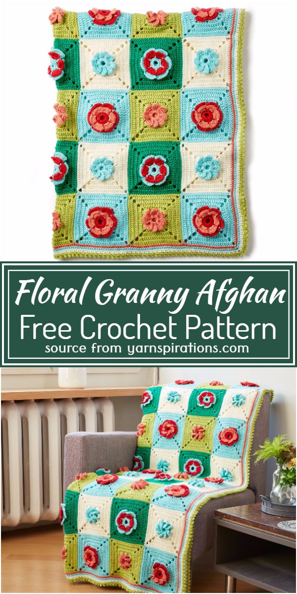 Crochet Floral Granny Afghan Free Pattern