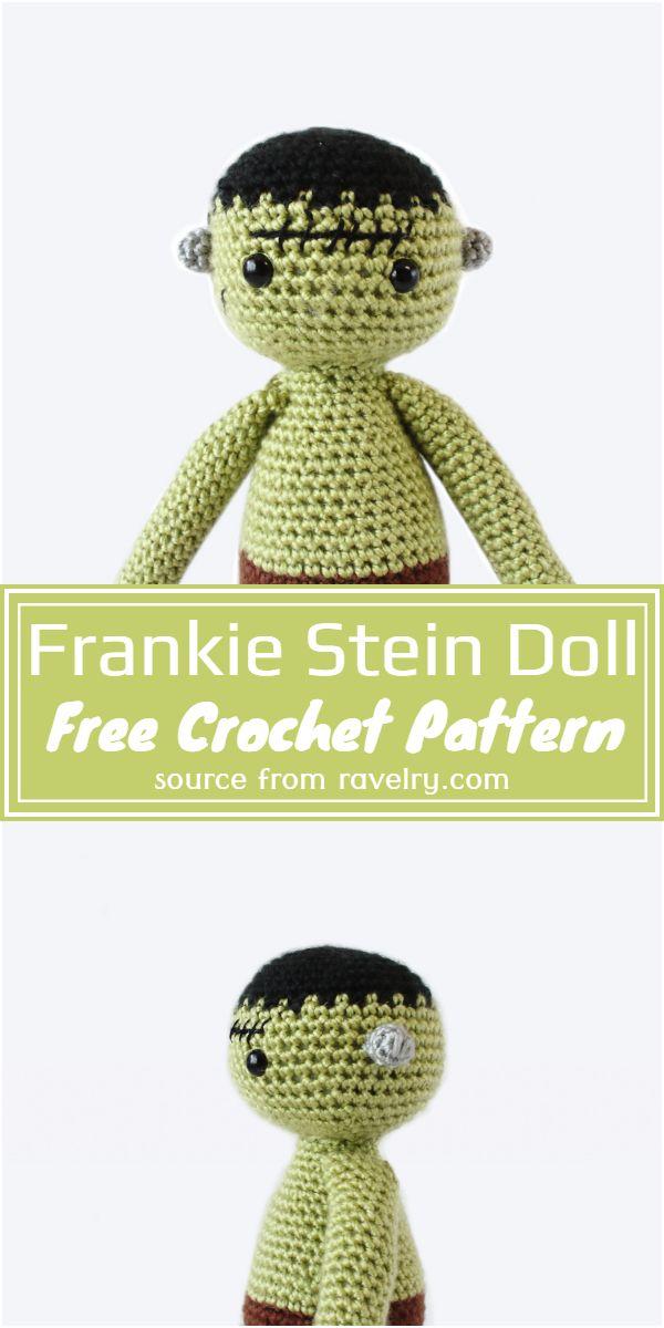Crochet Frankie Stein Doll Free Pattern