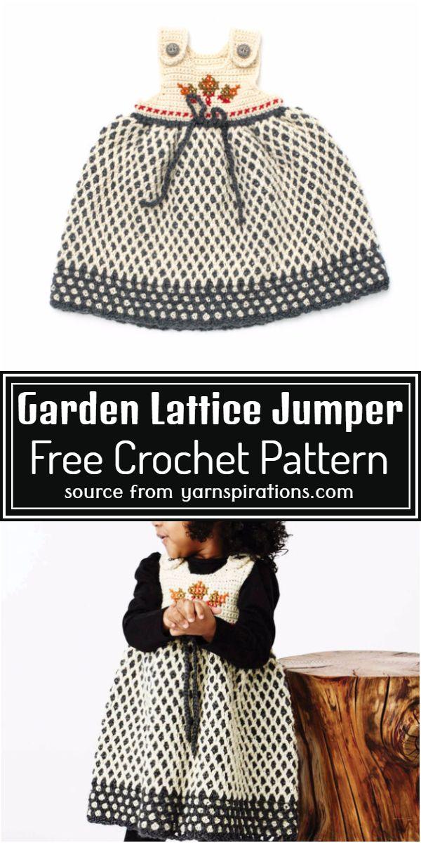 Crochet Garden Lattice Jumper Free Pattern