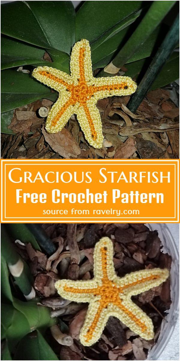 Crochet Gracious Starfish Free Pattern