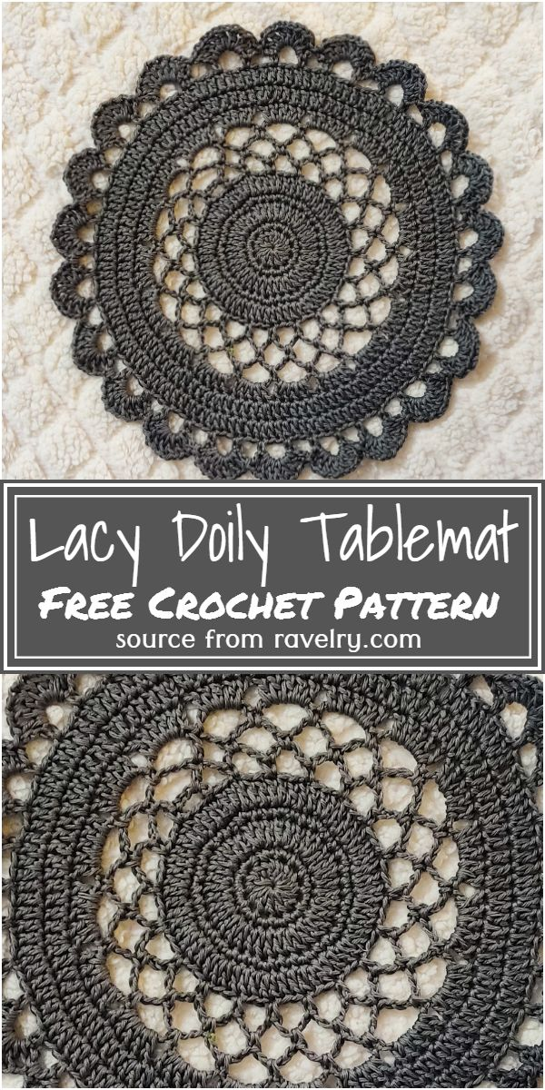 Doily Tablemat Free Pattern