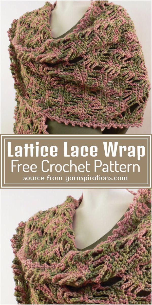 Crochet Lattice Lace Wrap Free Pattern