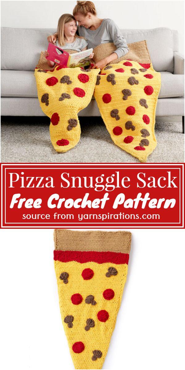 Crochet Pizza Snuggle Sack Free Pattern