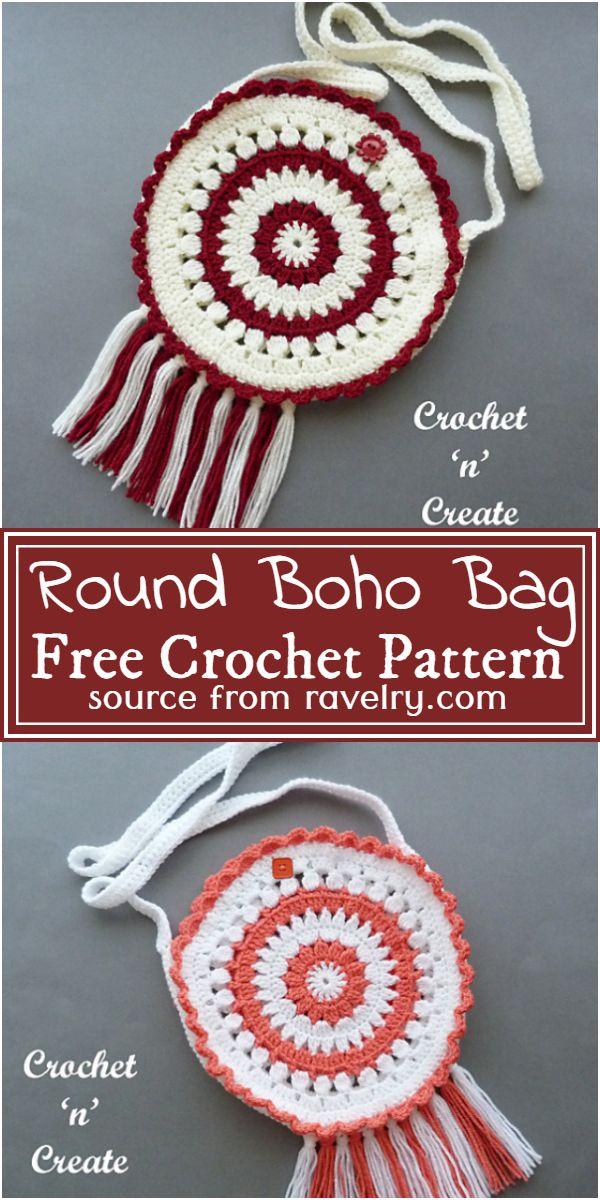 Crochet Round Boho Bag Pattern