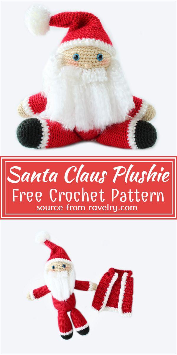 Crochet Santa Claus Plushie Pattern