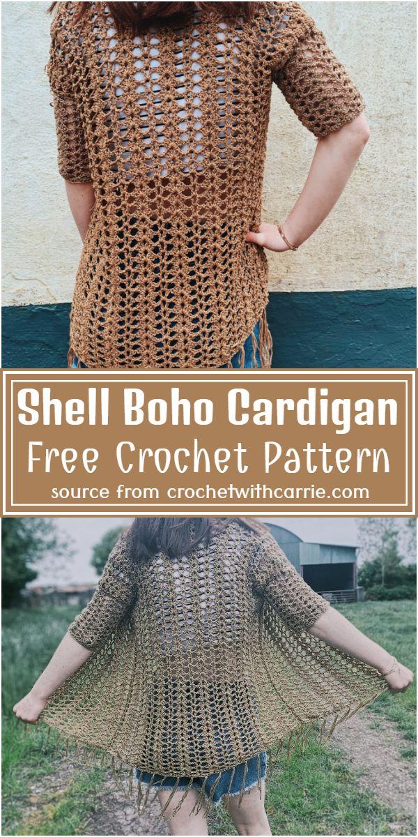 Shell Cardigan Free Pattern