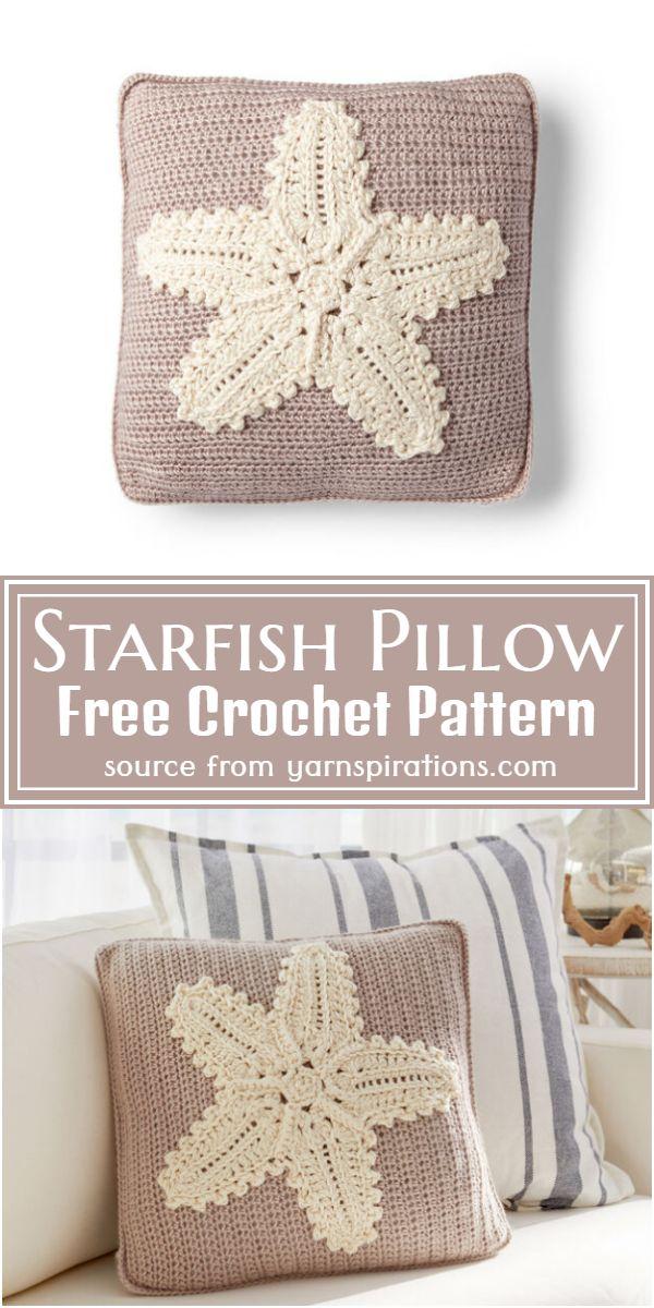 Crochet Starfish Pillow Free Pattern