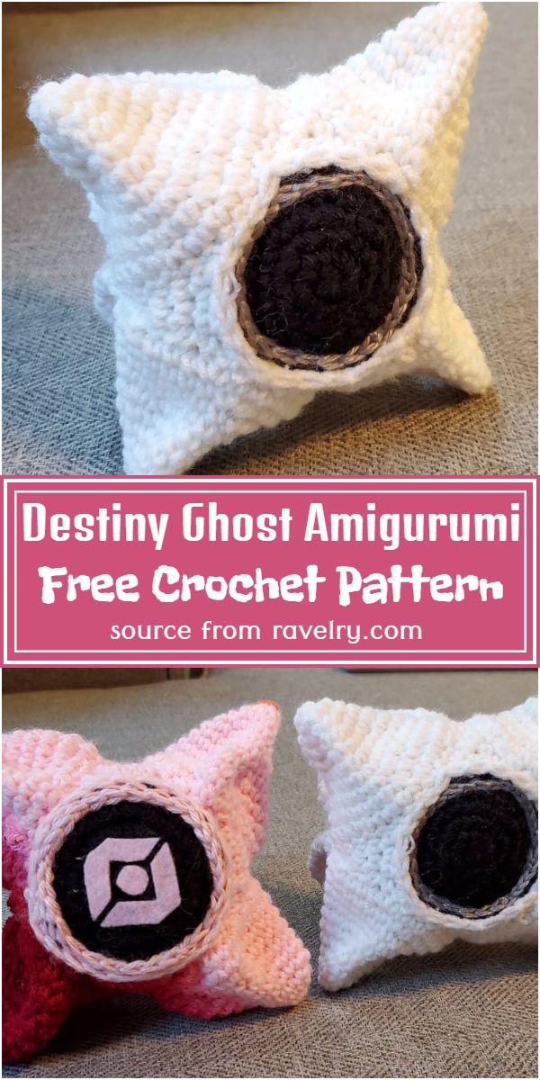 Destiny Ghost Amigurumi Crochet Pattern