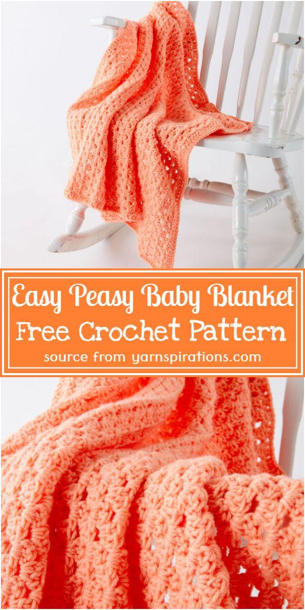 Easy Peasy Baby Blanket Crochet Pattern