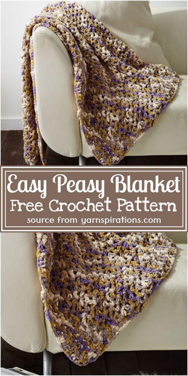 Easy Peasy Blanket Crochet Pattern
