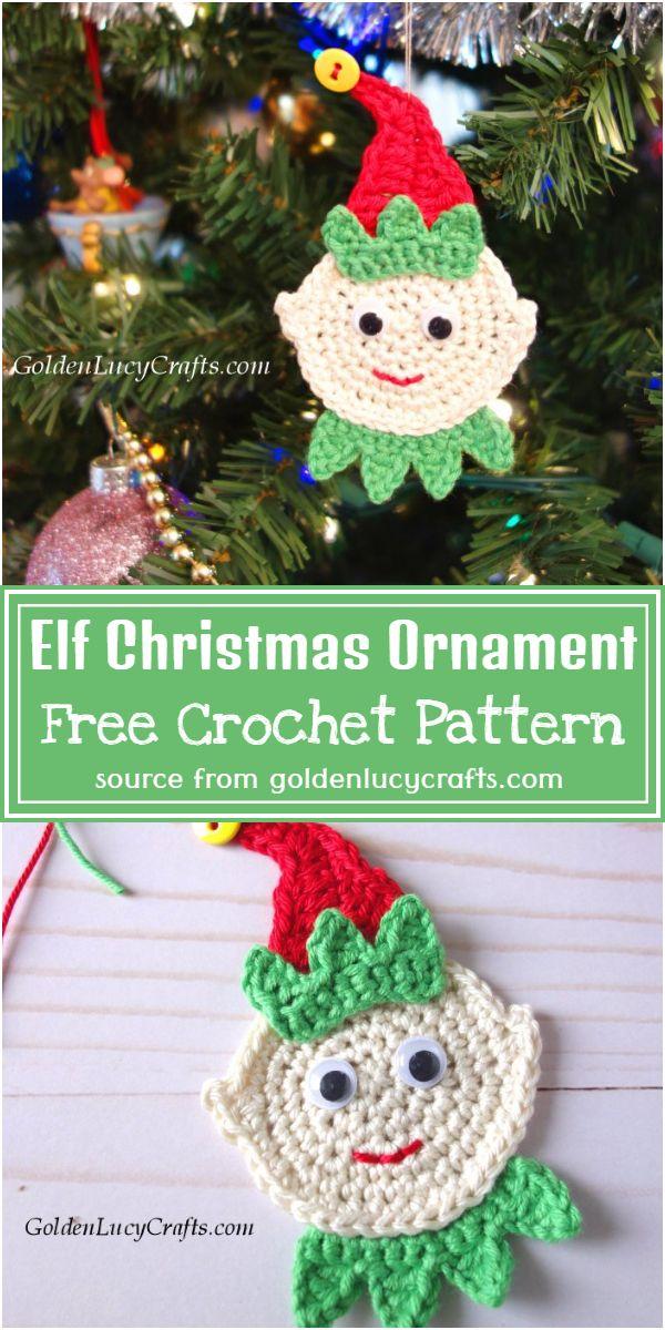 Elf Crochet Christmas Ornament Free Pattern