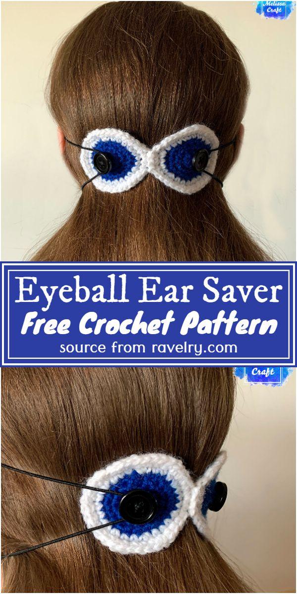 Eyeball Ear Saver Crochet Pattern