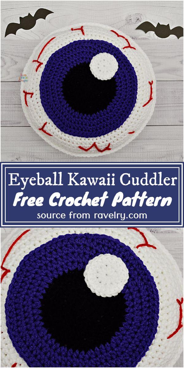 Eyeball Kawaii Cuddler Crochet Pattern