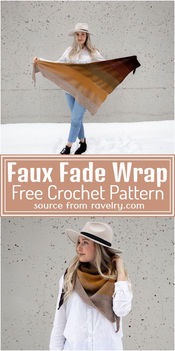 Faux Fade Wrap Crochet Pattern