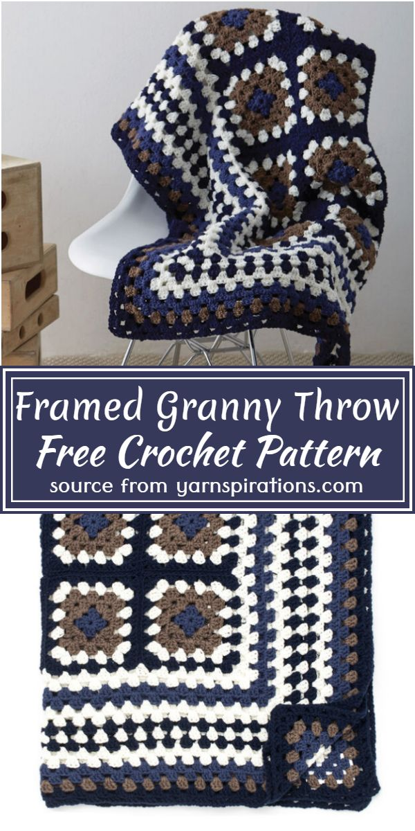 Framed Granny Throw Crochet Pattern