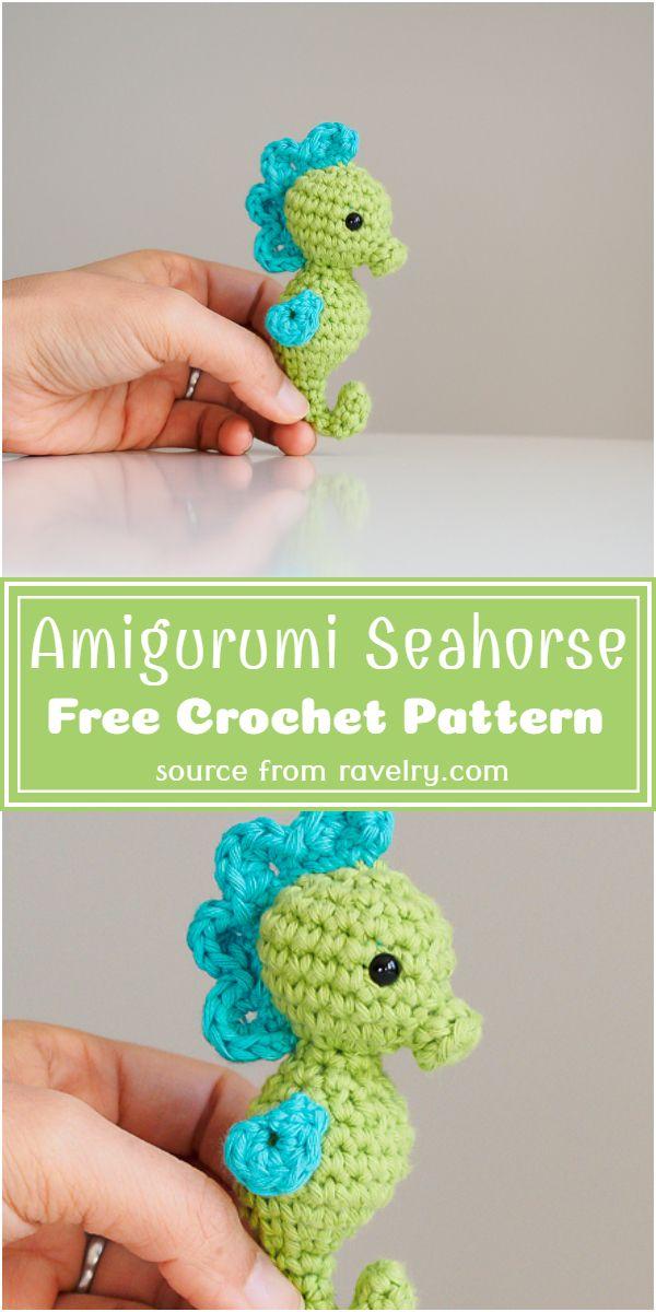 Free Crochet Amigurumi Seahorse Pattern
