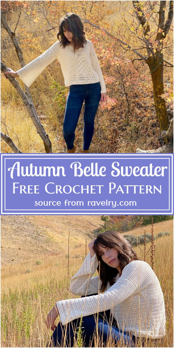 Free Crochet Autumn Belle Sweater Pattern