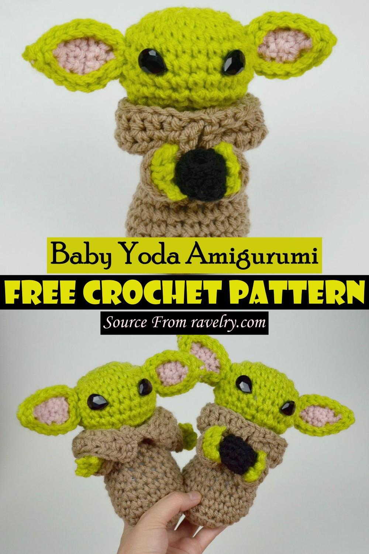 Free Crochet Baby Yoda Amigurumi Pattern