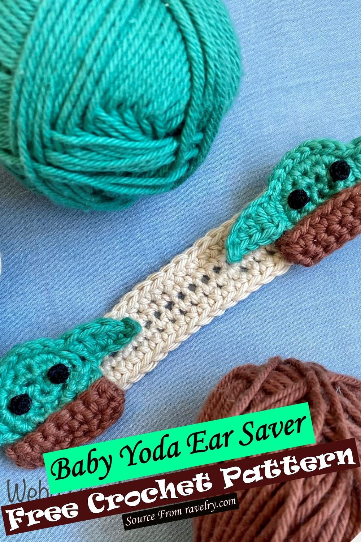 Free Crochet Baby Yoda Ear Saver Pattern
