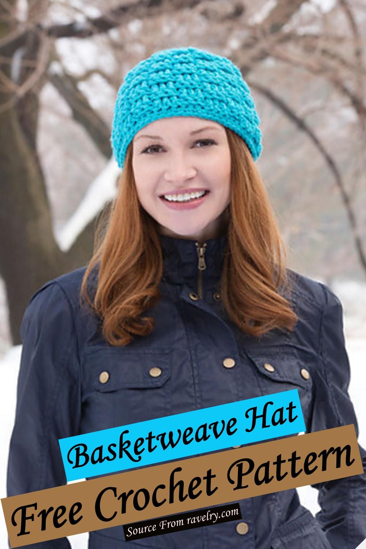 Free Crochet Basketweave Hat Pattern