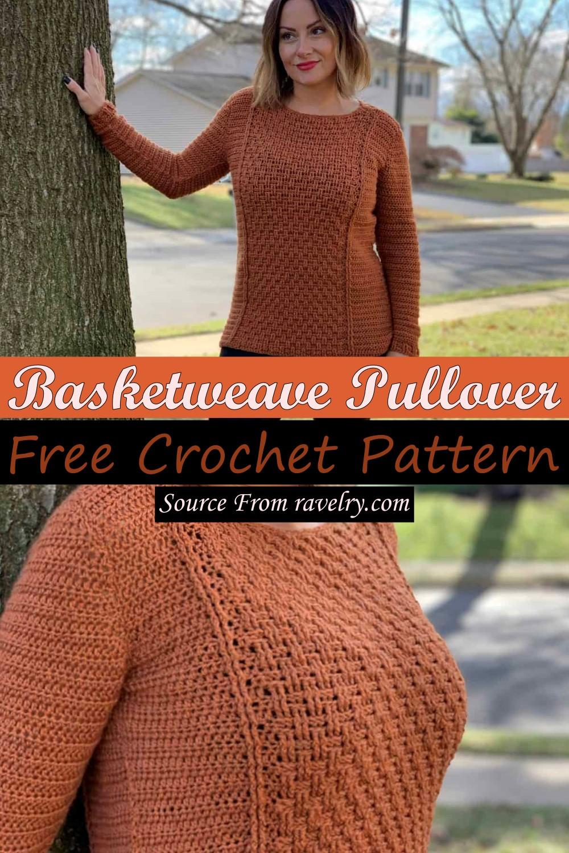 Free Crochet Basketweave Pullover Pattern