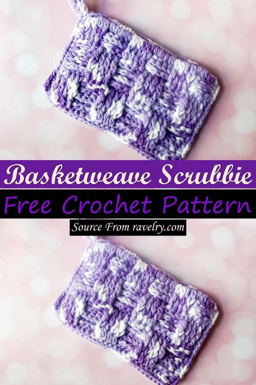 Free Crochet Basketweave Scrubbie Pattern