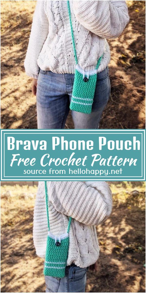 Free Crochet Brava Phone Pouch Pattern
