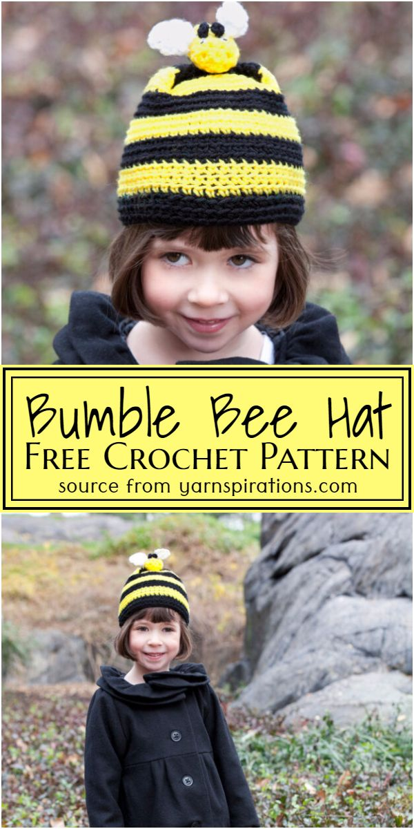 Free Crochet Bumble Bee Hat Pattern