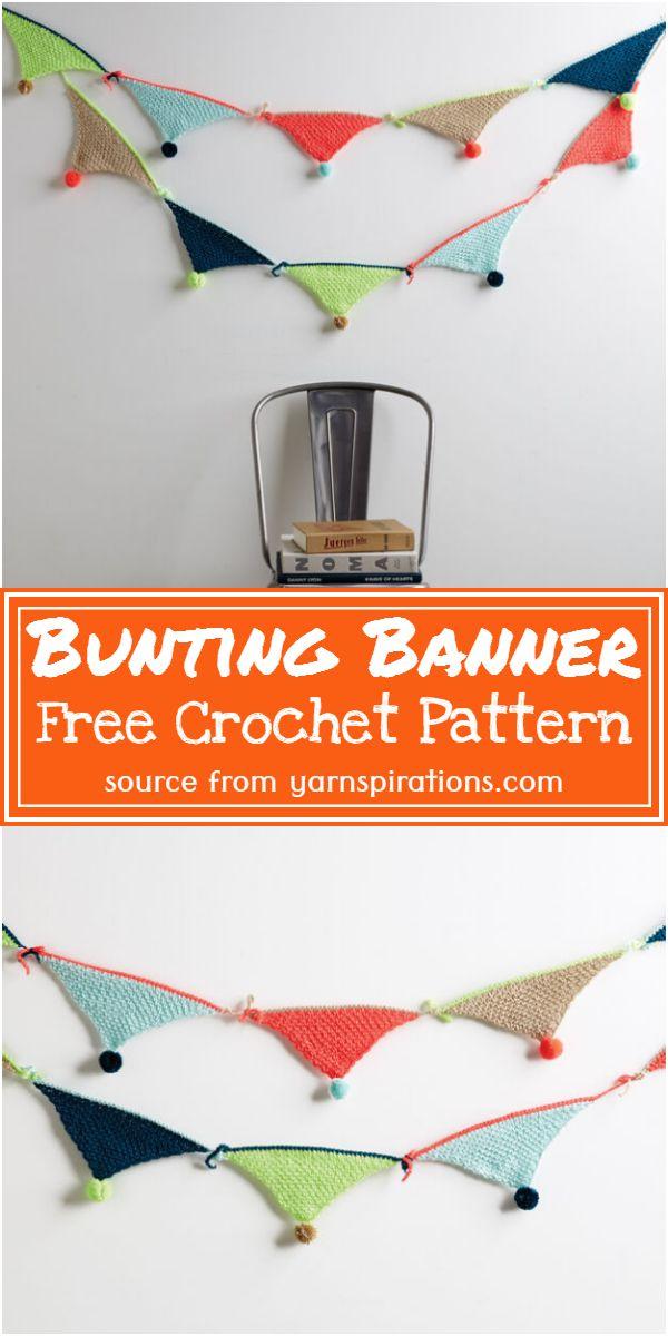 Free Crochet Bunting Banner Pattern