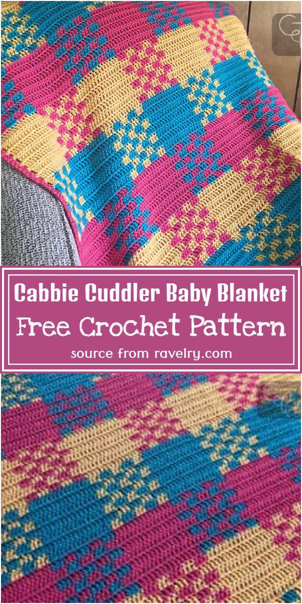 Free Crochet Cabbie Cuddler Baby Blanket Pattern