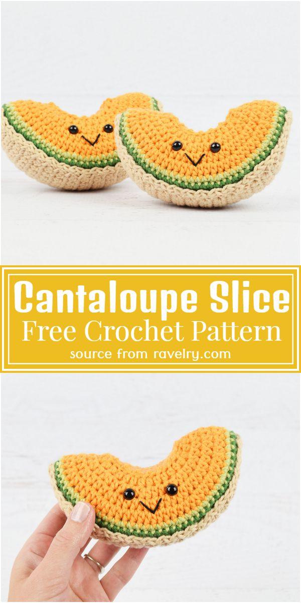 Free Crochet Cantaloupe Slice Pattern