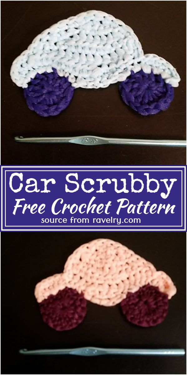 Free Crochet Car Scrubby Pattern