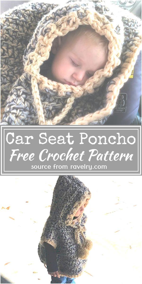 Free Crochet Car Seat Poncho Pattern