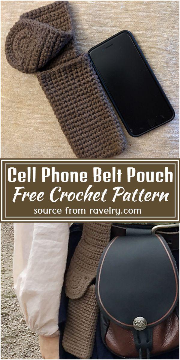 Free Crochet Cell Phone Belt Pouch Pattern
