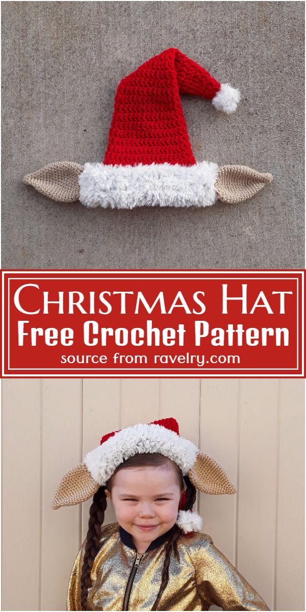 Free Crochet Christmas Hat Pattern