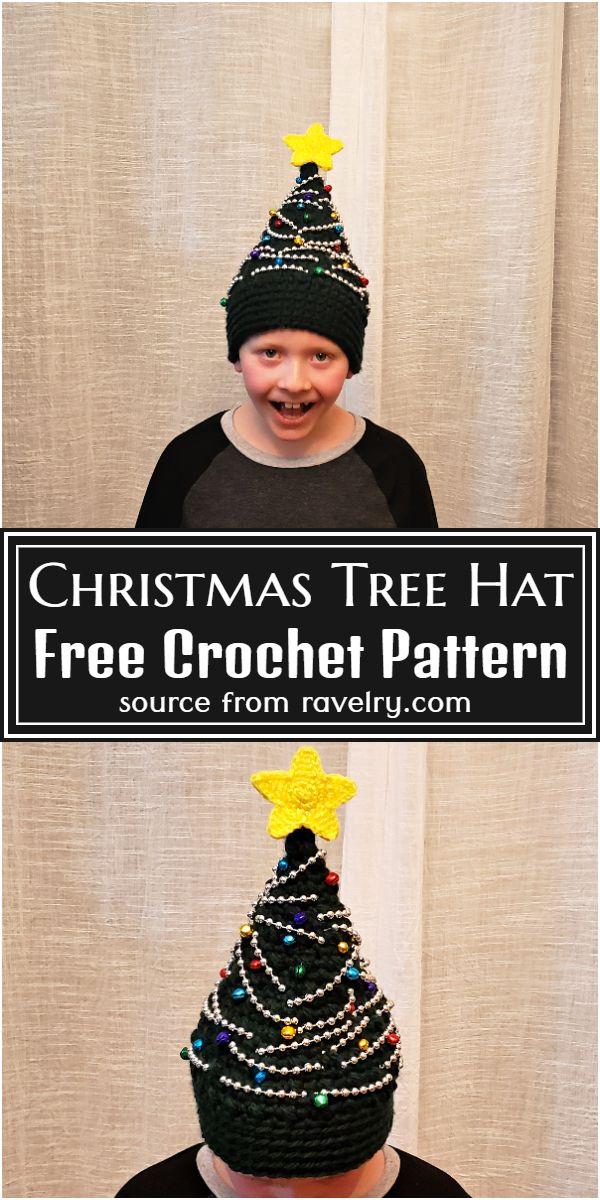 Free Crochet Christmas Tree Hat Pattern