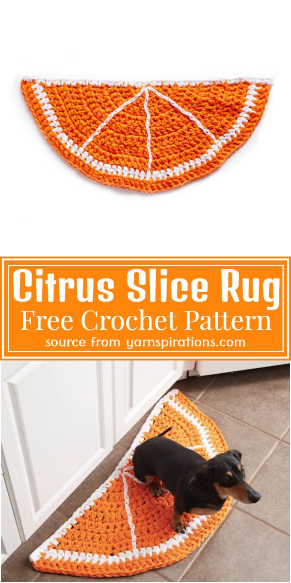 Free Crochet Citrus Slice Rug Pattern