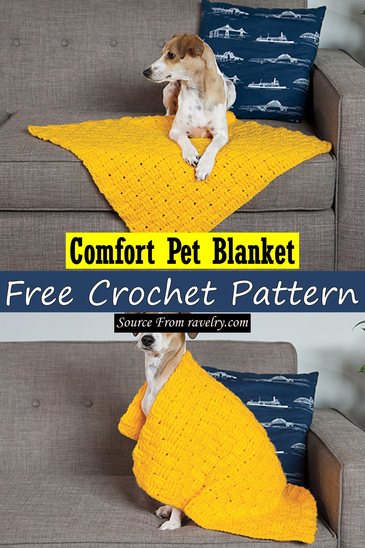 Free Crochet Comfort Pet Blanket Pattern