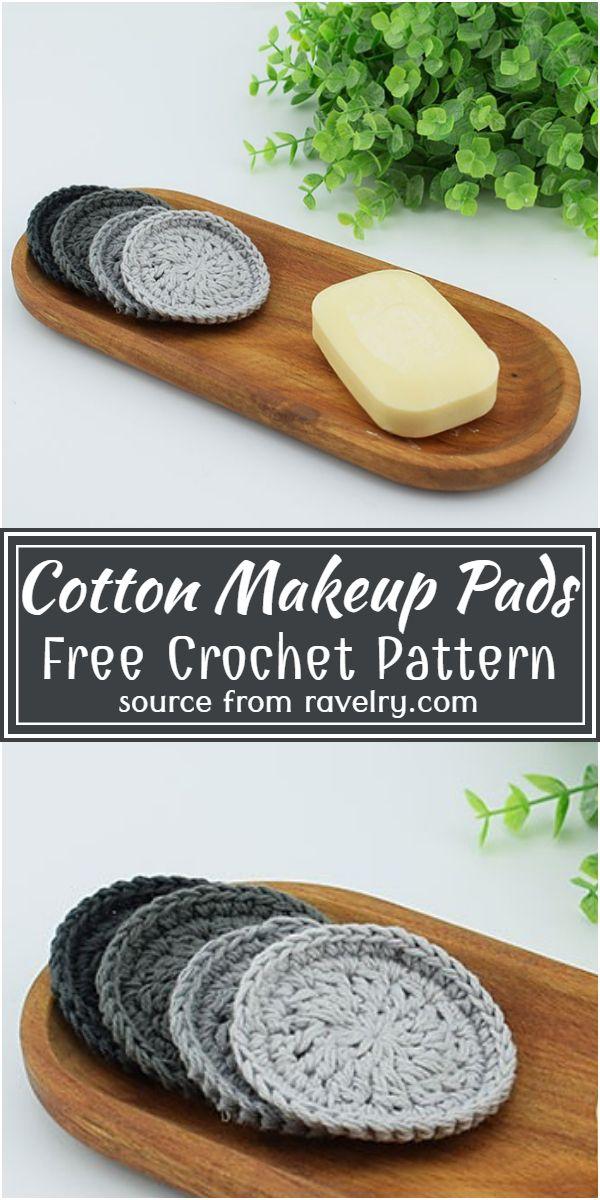 Free Crochet Cotton Makeup Pads Pattern