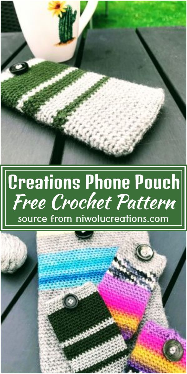 Free Crochet Creations Phone Pouch Pattern
