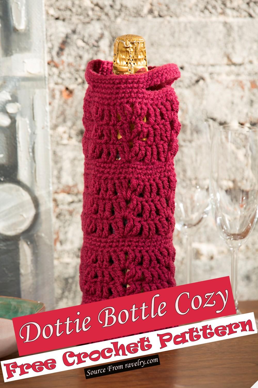 Free Crochet Dottie Bottle Cozy Pattern