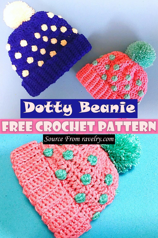 Free Crochet Dotty Beanie Pattern
