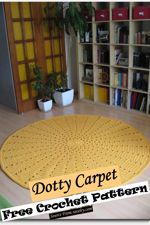 Free Crochet Dotty Carpet Pattern