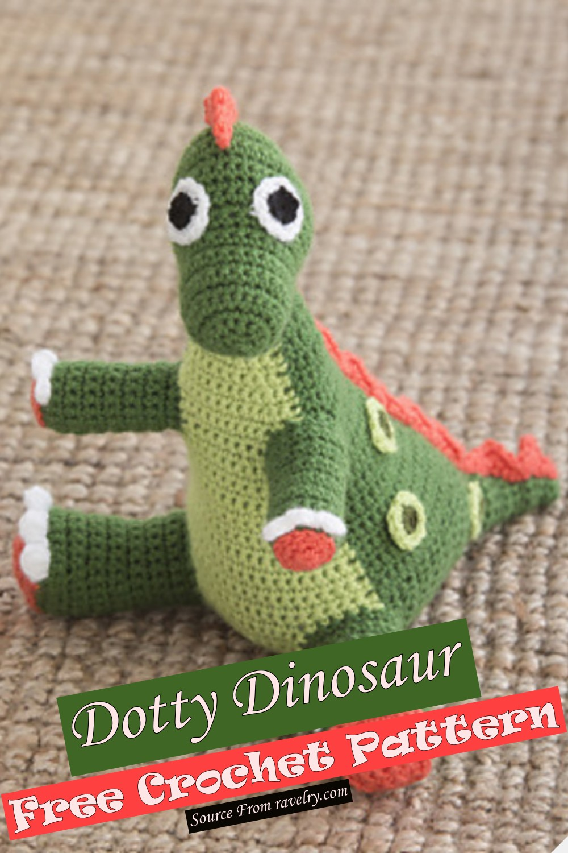 Free Crochet Dotty Dinosaur Pattern