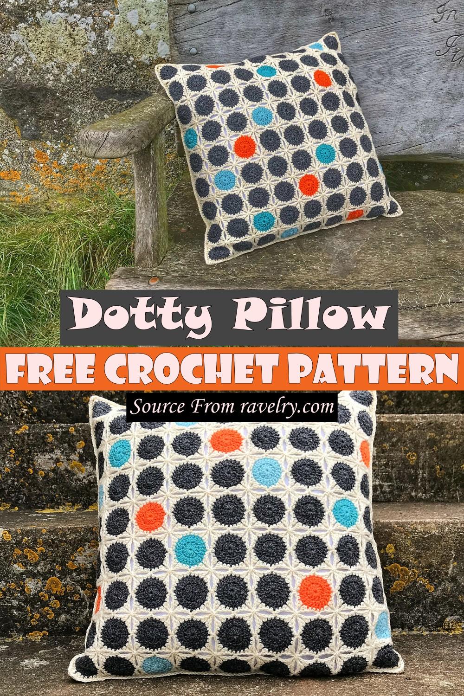 Free Crochet Dotty Pillow Pattern